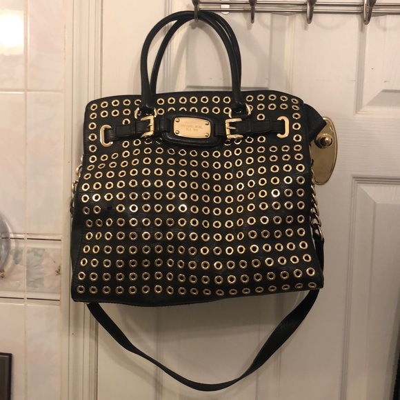 Michael Kors Handbags - Michael Kors Gold Eyelet Bag